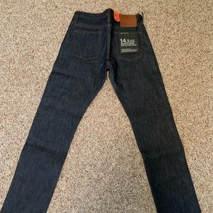THE UNBRANDED BRAND SKINNY JEANS RAW SELVEDGE